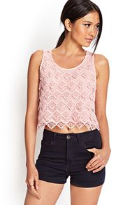 Crocheted Lace Tank- Forever 21
