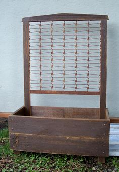 Spring Sale Planter Box, Rustic, Hand Crafted Wood And Steel Planter