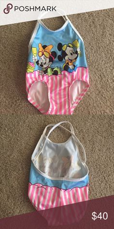Vintage 1984 12M Disney Bathing Suit Vintage 1984 Disney Mickey and Minnie 12 Month Bathing Suit. Excellent Condition. Disney Swim One Pieces