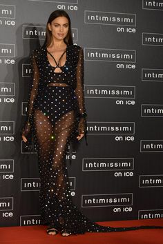 Irina Shayk Joan Smalls & Anja Rubik Step Out at Intimissimi On Ice 2016 Irina Shayk Estilo, Irina Shake, Celebrity Dresses, Celebrity Style, Love Fashion, Fashion Models, Catwalk Models, Anja Rubik, Looks Street Style