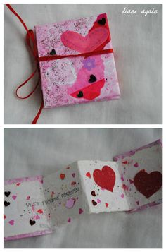another tiny valentine accordion book.