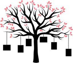 Vinilo decorativo marcos árbol familiar