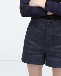 PATCH POCKETS HIGH WAIST SHORTS-Shorts-WOMAN | ZARA United States