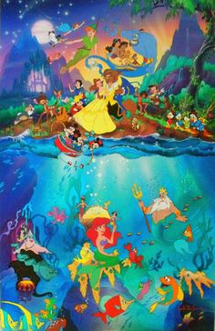 "Original Painting ""Disney"" by Christian Riese Lassen"
