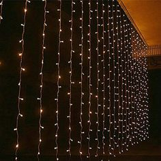 Angelbubbles 8 Modes Outdoor/Indoor LED String Fairy Curtain Light Twinkle Lights For Xmas Wedding Hotel Market Festival Decoration (Brighter 3*3M Warm White)