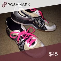 VOLLEYBALL SHOES Asics VOLLEYBALL SHOES!! These shoes are super comfy with gel cushion! Worn for only one season! Asics Shoes Athletic Shoes