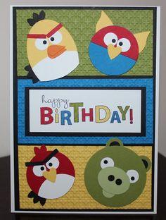 Angry Birds invitation idea.
