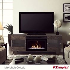 Fireplace Media Console, Media Electric Fireplace, Electric Fireplaces, Media Consoles, Baseboards, Home, Style, Swag, Ad Home