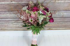 DIY Pink Wildflower Bouquet