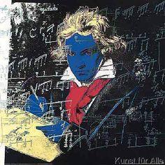 Andy Warhol Beethoven Pop Art Litho Imprimé 18 x 18 Andy Warhol, Jasper Johns, Josef Albers, Jean Michel Basquiat, Jackson Pollock, Art Pop, Keith Haring, Pop Art Roy Lichtenstein, Grand Prix