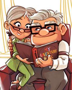 Cute Christmas Presents Disney Up, Disney Pixar, Disney Amor, Disney Couples, Disney Family, Disney Parks, Disney Movies, Up Pixar, Cute Couple Cartoon