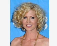 Jenna Elfman Curly Wedge Hairstyle