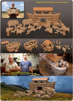 Noah's Magnificent Father Son Ark Wood Toy Plan Set