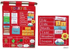 I love this soft calendar with Velcro pieces.