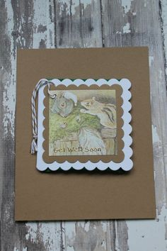 Beatrix Potter Get Well Teabag Card by AllOnAHeartString on Etsy