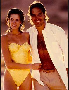 Stephanie Seymour and John Casablancas