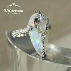 Opal and diamond ring by Chiarezza