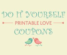 Free Printable DIY Love Coupons #free #printables #ValentinesDay #Crafts #Gifts http://free.ca/blog/diy-printable-love-coupons/