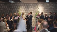 This event complex boasts historic charm and modern sophistication in both the revitalized Arcadian Court and the contemporary Arcadian Loft. Wedding Ceremonies, Wedding Venues, Flower Vases, Flowers, Loft Wedding, Toronto Wedding, Event Venues, Couples, Wedding Dresses