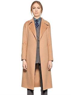 LARUSMIANI BELTED CASHMERE COAT, BEIGE. #larusmiani #cloth #coats