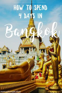 How to spend your time in Bangkok, Thailand and see more than just temples, malls and traffic! Use this 4-day guide to see the best of Thailand's capital.