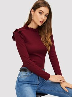 Textiles Y Moda, Plus Zise, Fashion News, Fashion Outfits, Long Sleeve Tee Shirts, No Frills, Westerns, Clothes For Women, Sleeves