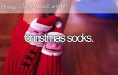 things i love about winter: Christmas socks.