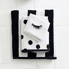 The Emily & Meritt Black and White Towel Set #pbteen