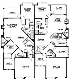 Duplex Plan chp-26044 at COOLhouseplans.com
