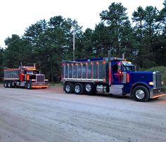 Big Rig Trucks, Tow Truck, Semi Trucks, Lifted Trucks, Pickup Trucks, Peterbilt Dump Trucks, Custom Peterbilt, Peterbilt 389, Big Ride