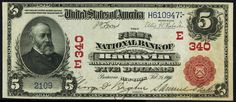 u.s. five dollar bill | images of the 1902 five dollar bill national currency note was issued ...
