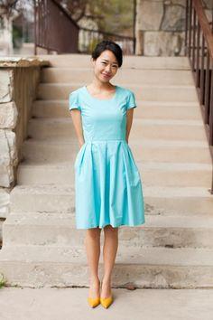 DIY: Tiffany Blue Dress.