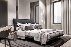 Modern Luxury Bedroom, Luxurious Bedrooms, Luxury Interior, Interior Design, Apartment Projects, Apartment Design, Master Room, Hospitality Design, Historic Homes