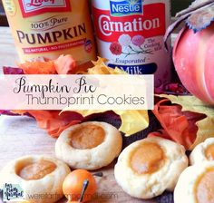Pumpkin Pie Thumbprint Cookies (This shop has been compensated by Collective Bias, Inc. and its advertiser. All opinions are theirs alone. Best Dessert Recipes, Fun Desserts, Cookie Recipes, Delicious Desserts, Pumpkin Squash, Pumpkin Spice, Pumpkin Recipes, Fall Recipes, Pumpkin Foods