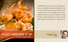 Love coconut shrimp and this is a much lighter recipe...from Bobby Deen