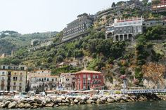 Maison La Minervetta, Sorrento Italy... on the right.. up on the cliff!