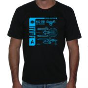 Camiseta Blueprint Enterprise  - FICTION CORPORATION