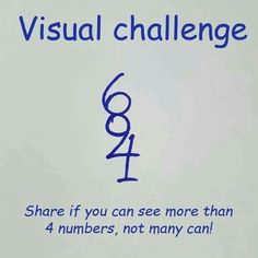Visual Challenge: What number can you see? Maths Puzzles, Puzzles For Kids, Brain Builders, Brain Teasers For Kids, Hidden Words, Brain Teaser Puzzles, Math Jokes, Funny Pictures Can't Stop Laughing, Ways To Be Happier