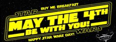 Happy Star Wars Day! May the 4th be with you! #starwarsday #buymebreakfast #chewiewerehome