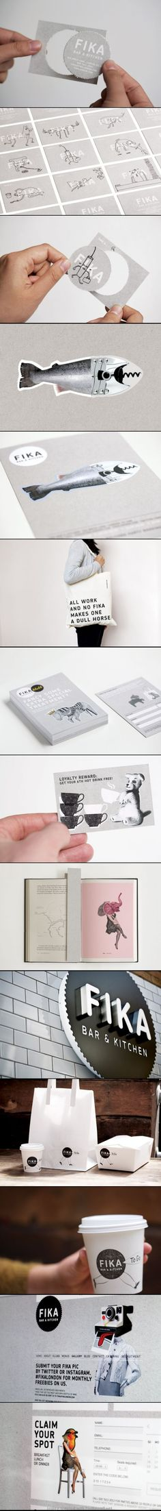 Fika bar & kitchen identity