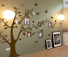 Photo Frame Tree Wall Decals Wall Stickers - Family Tree Wall vinyle - Photo frame tree decal-Tree Wall Decal for Picture Frames