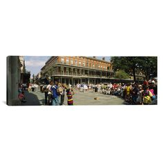 """East Urban Home Panoramic New Orleans, Louisiana Photographic Print on Canvas Size: 20"""" H x 60"""" W x 1.5"""" D"""