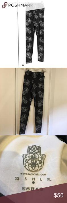 Iamvibes Black & Silver hamsa Yoga Pant Legging Brand new, never worn Urban Outfitters Pants Leggings