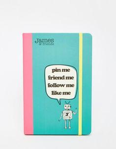 James & Friends   James & Friends A5 Notebook at ASOS