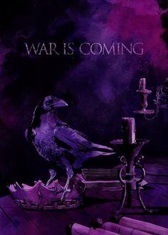War is coming. Game of thrones poster tribute, by conspiracystudio    www.conspiracystudio.com