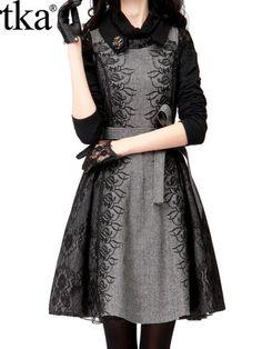 lace embroidery sleeveless tweed dress coat $151 #asianicandy #artka #vintagefashion
