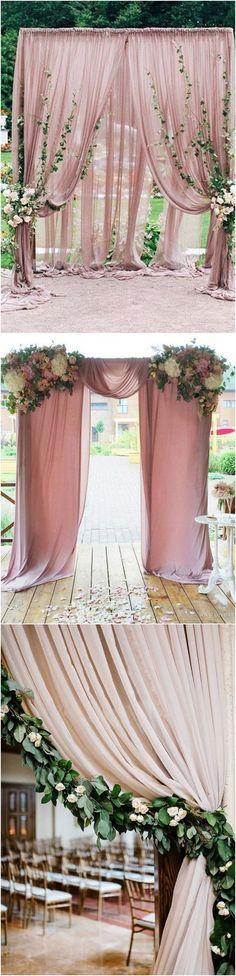 dusty rose wedding arch decoration ideas
