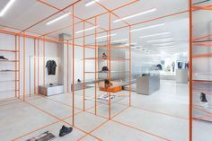Acquasalata Clothing Store in Cattolica, Italy by Storage Associati Retail Store Design, Retail Shop, Commercial Design, Commercial Interiors, Decor Interior Design, Interior Decorating, Clothing Store Design, Fashion Showroom, Italian Luxury Brands