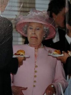 Even the queen has her moments!