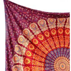 LARGE Mandala Fabric Wall Tapestry Throw Bohemian Hippie Mandala Wall... (590 THB) via Polyvore featuring fabric bedding and tapestry bedding